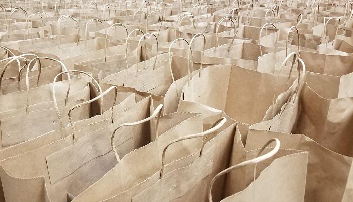 Hnedé papierové tašky